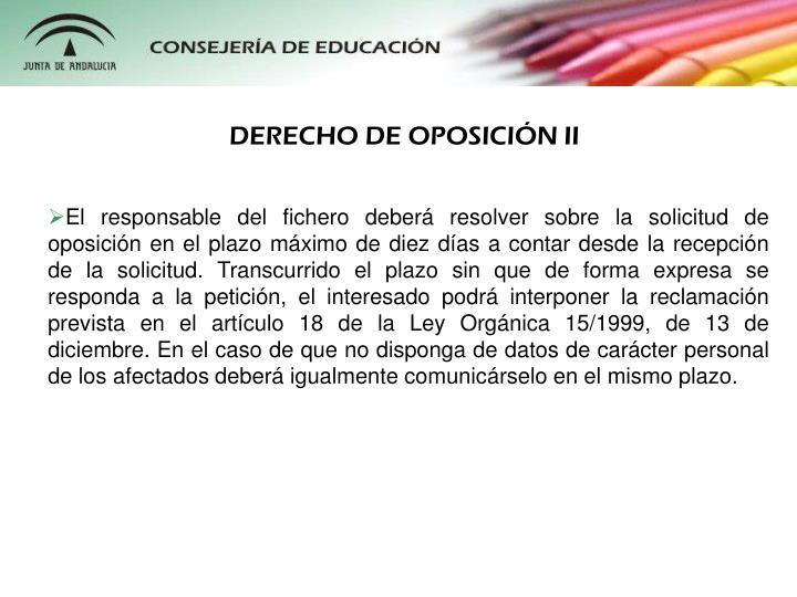 DERECHO DE OPOSICIN II