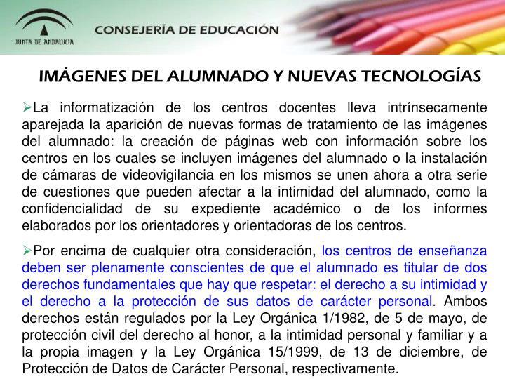IMGENES DEL ALUMNADO Y NUEVAS TECNOLOGAS