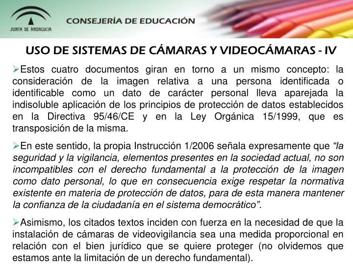 USO DE SISTEMAS DE CMARAS Y VIDEOCMARAS - IV