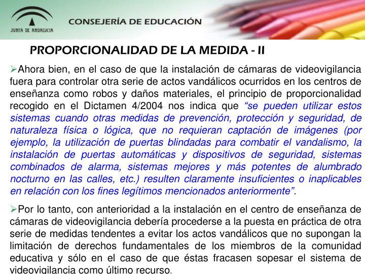 PROPORCIONALIDAD DE LA MEDIDA - II