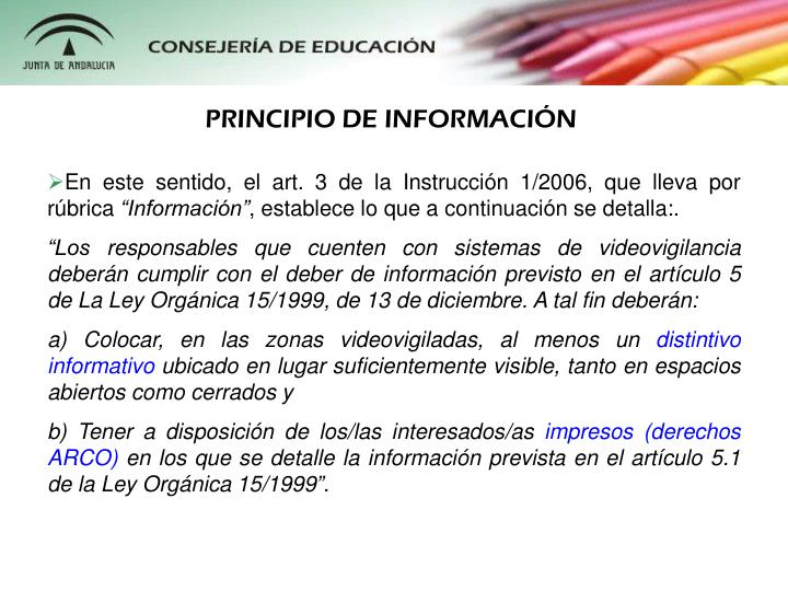 PRINCIPIO DE INFORMACIN