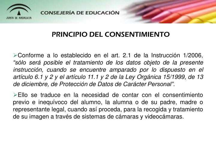 PRINCIPIO DEL CONSENTIMIENTO