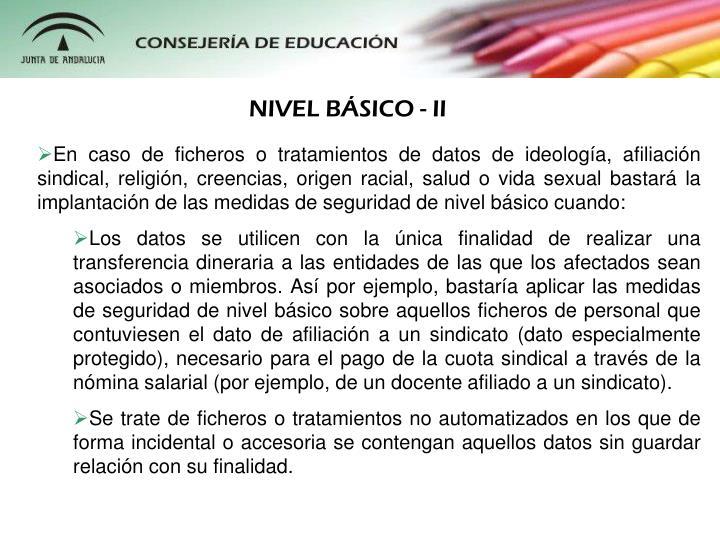 NIVEL BSICO - II