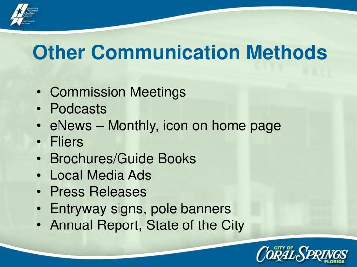 Other Communication Methods