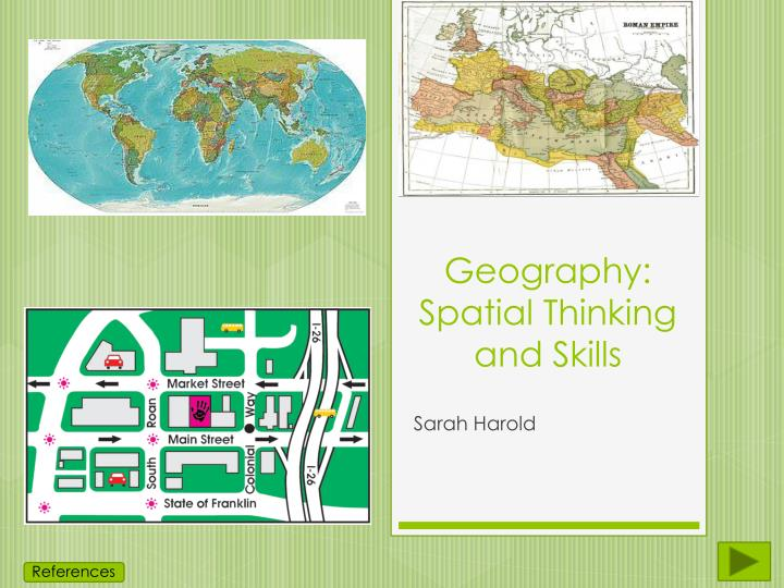 Geography spatial thinking and skills