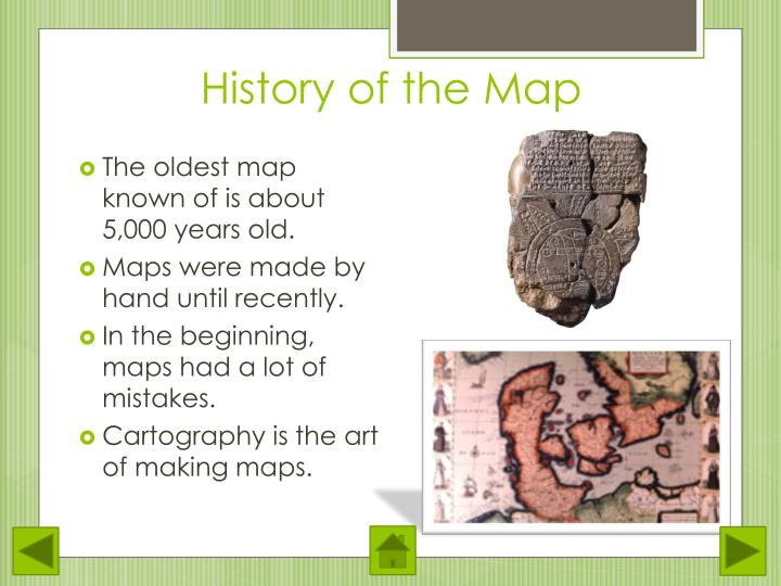 History of the Map