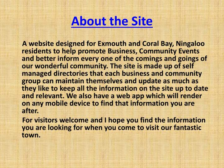 About the site