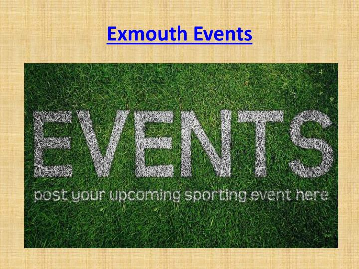 Exmouth Events