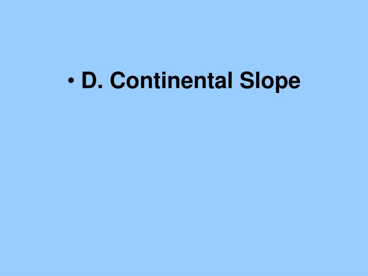D. Continental Slope