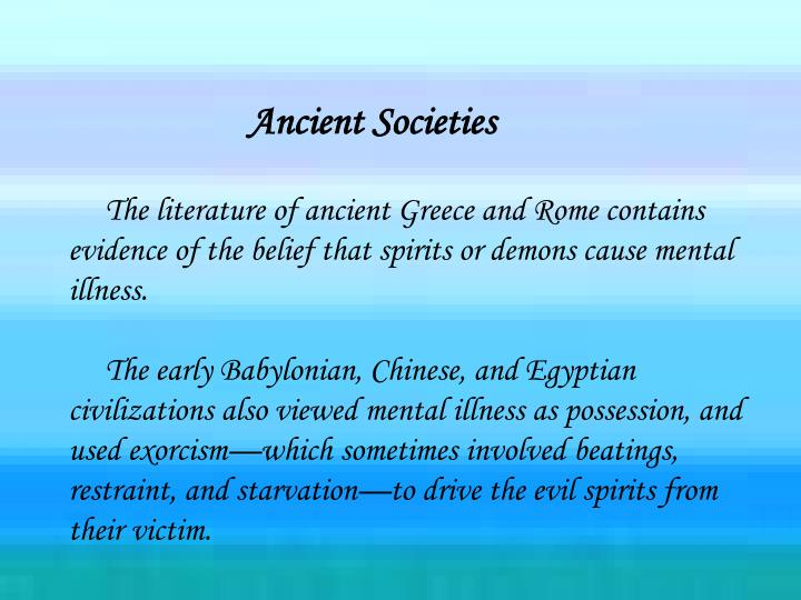 Ancient Societies