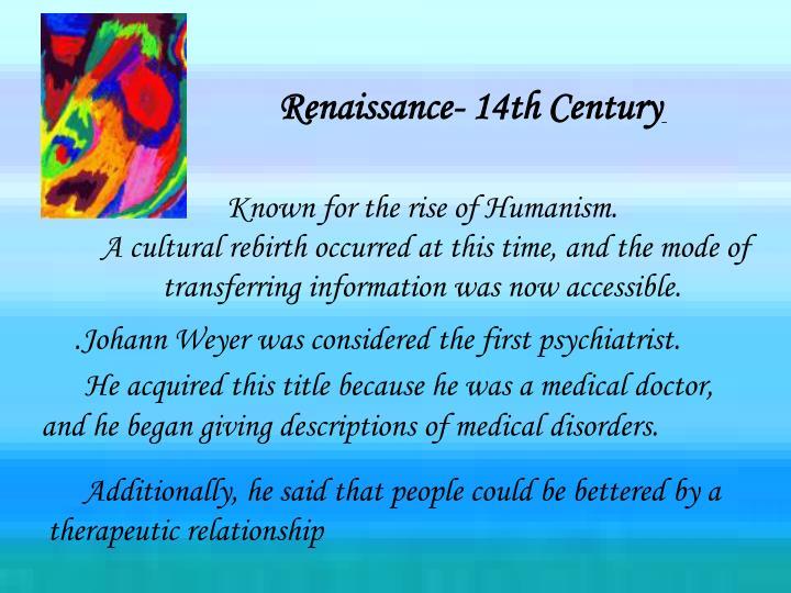 Renaissance- 14th Century