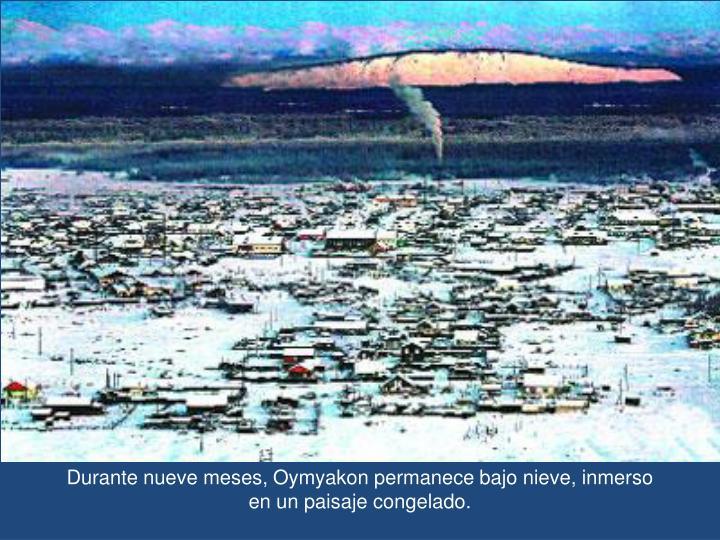 Durante nueve meses, Oymyakon permanece bajo nieve, inmerso