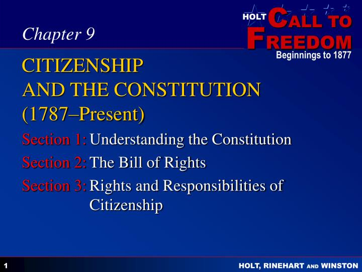 Citizenship and the constitution 1787 present