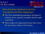 main freedoms outlined in the first amendment and their importance