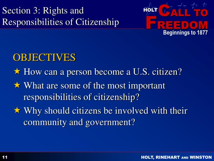 Section 3: Rights and