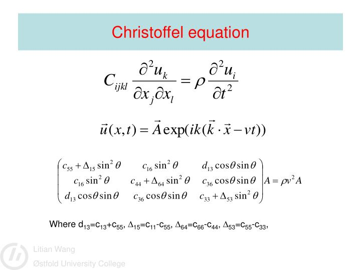 Christoffel equation
