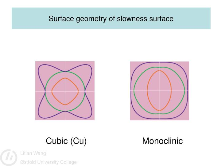 Surface geometry of slowness surface