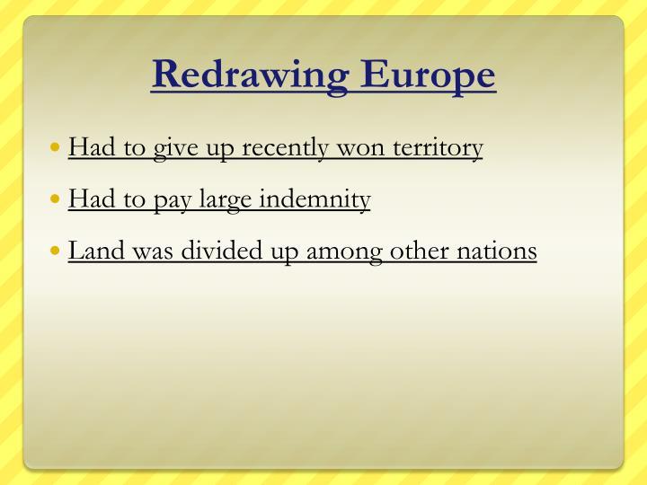 Redrawing Europe