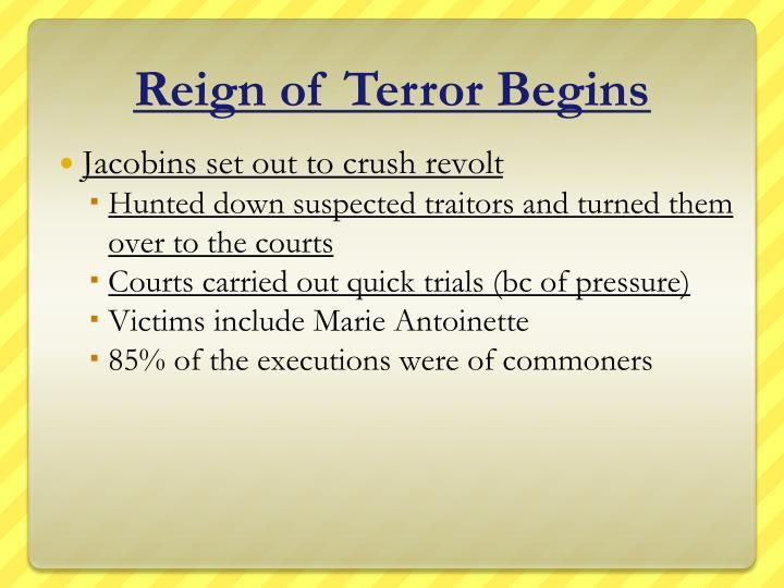 Reign of Terror Begins