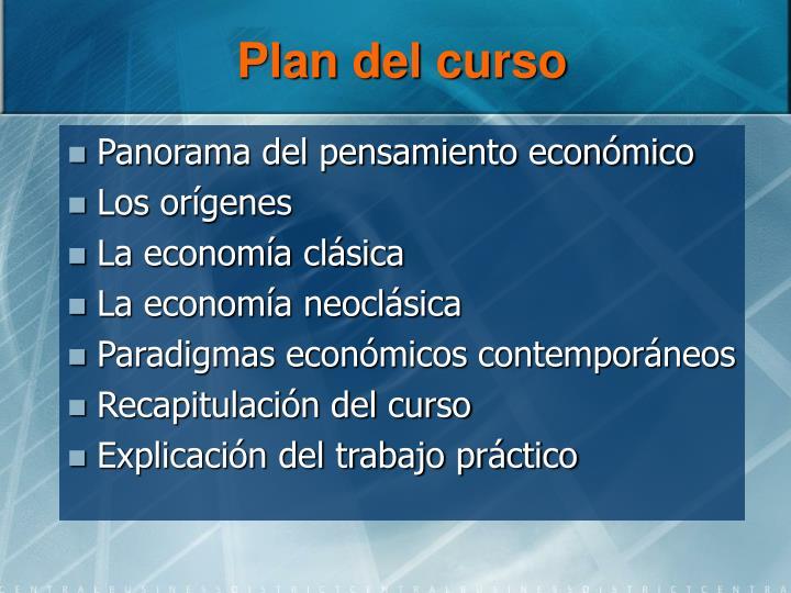 Plan del curso