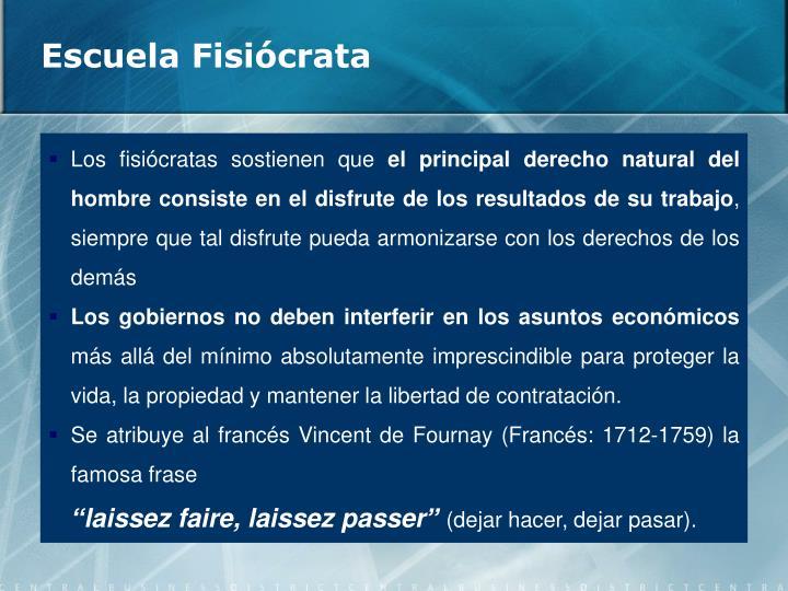 Escuela Fisiócrata