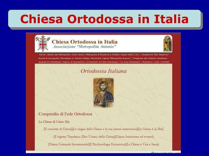 Chiesa Ortodossa in Italia