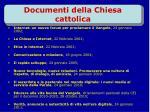 documenti della chiesa cattolica