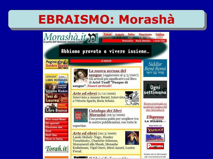 EBRAISMO: Morashà