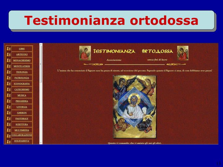 Testimonianza ortodossa