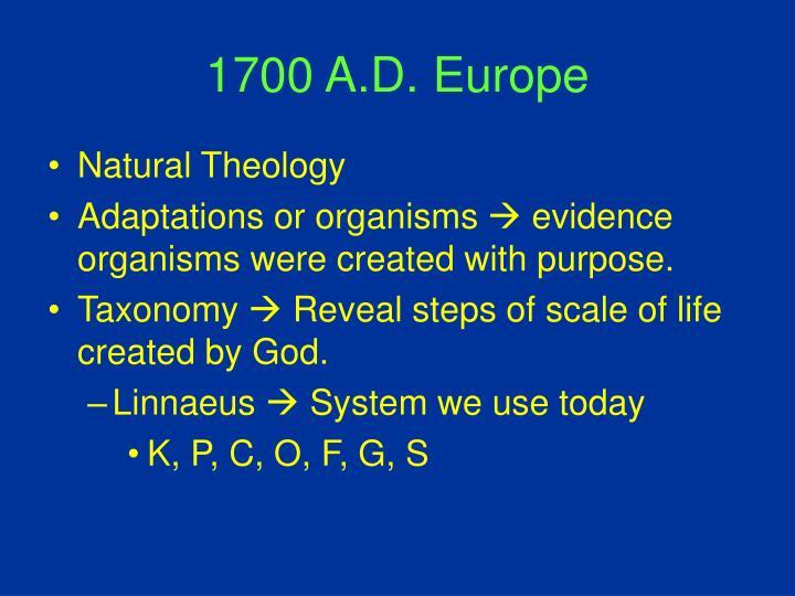 1700 A.D. Europe