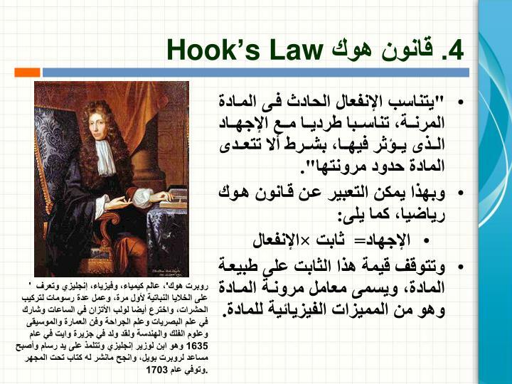 4. قانون هوك