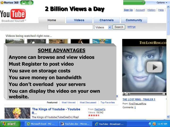 2 Billion Views a Day
