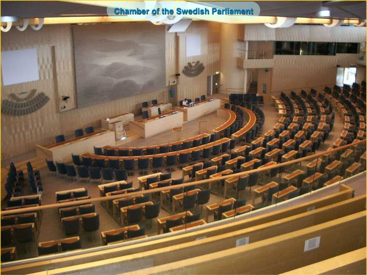 Chamber of the Swedish Parliament