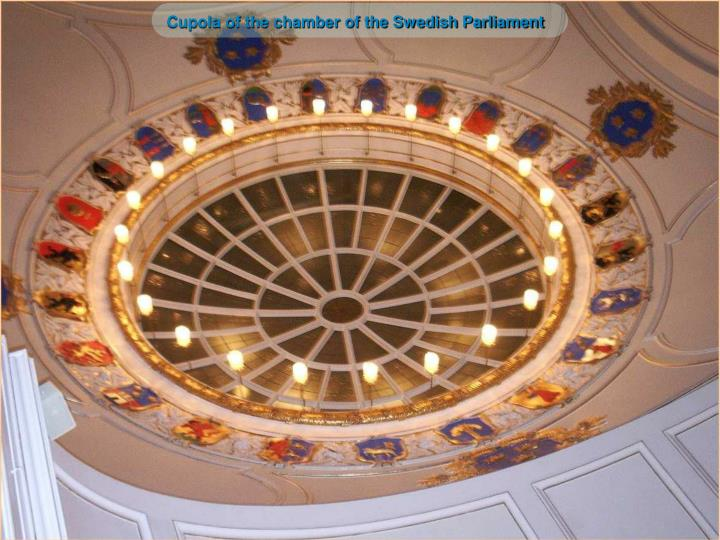 Cupola of the chamber of the Swedish Parliament