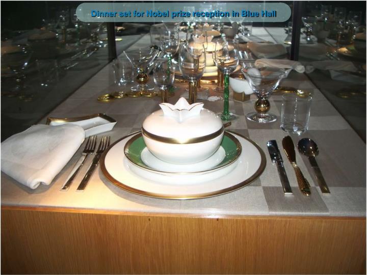 Dinner set for Nobel prize reception in Blue Hall