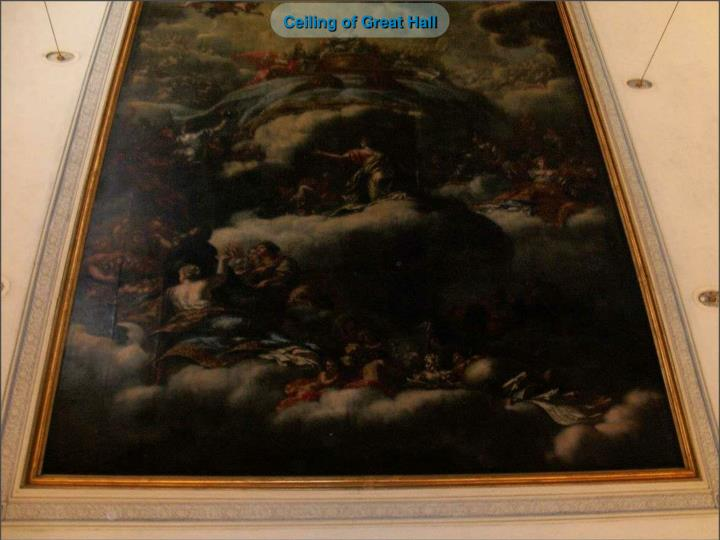Ceiling of Great Hall