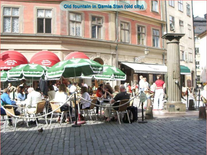 Old fountain in Gamla Stan (old city)