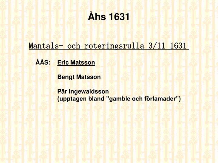 Åhs 1631