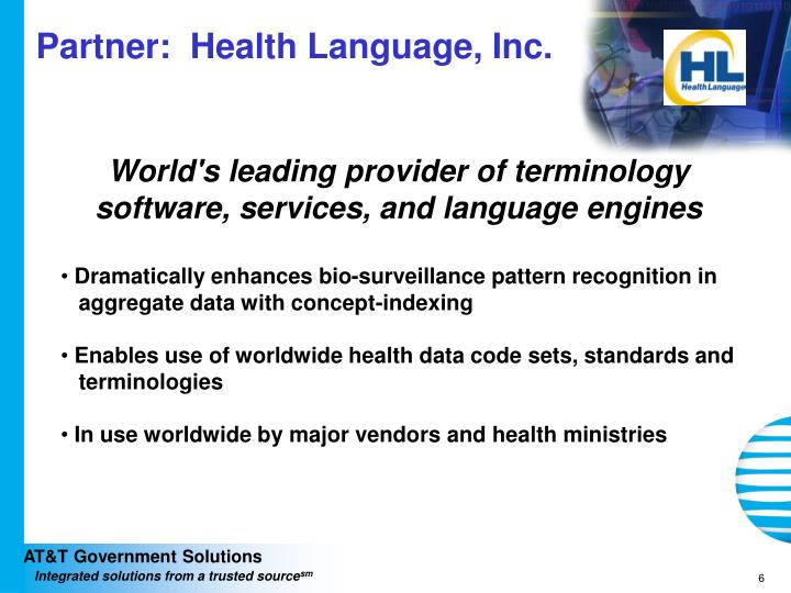 Partner:  Health Language, Inc.