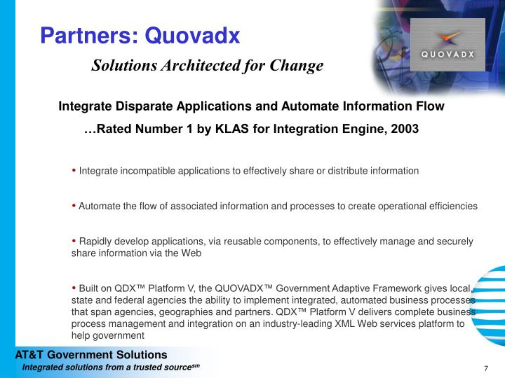 Partners: Quovadx