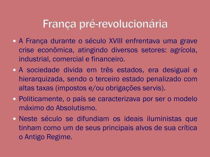 França pré-revolucionária
