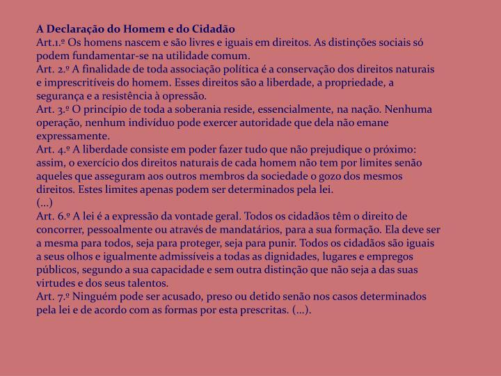 A Declaração do Homem e do Cidadão
