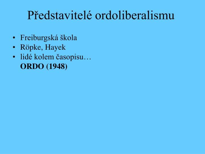 Představitelé ordoliberalismu