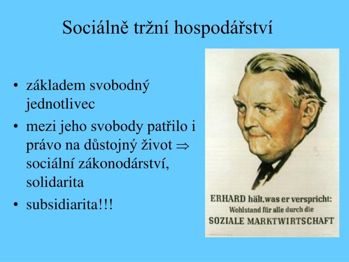 Sociálně tržní hospodářství