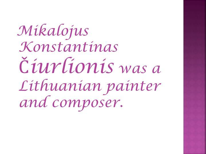 Mikalojus Konstantinas