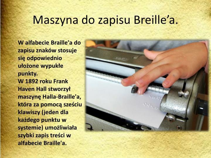 Maszyna do zapisu