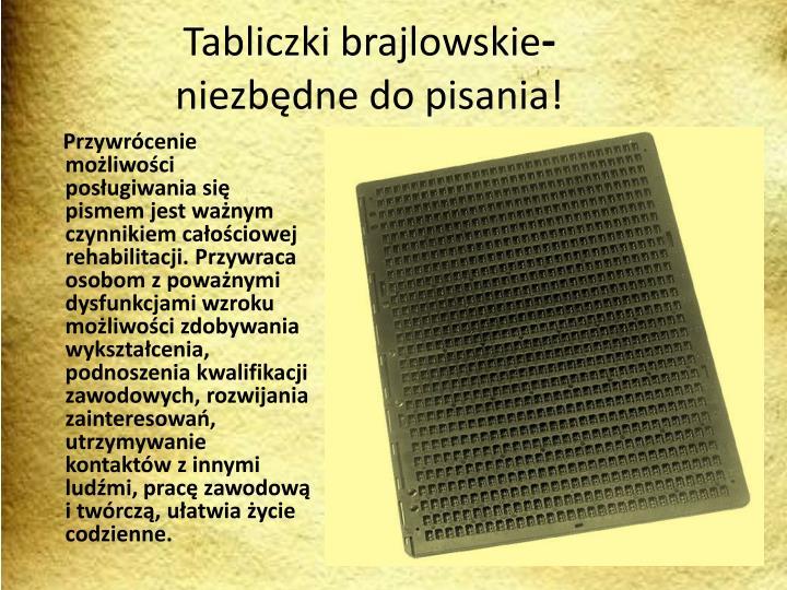 Tabliczki brajlowskie