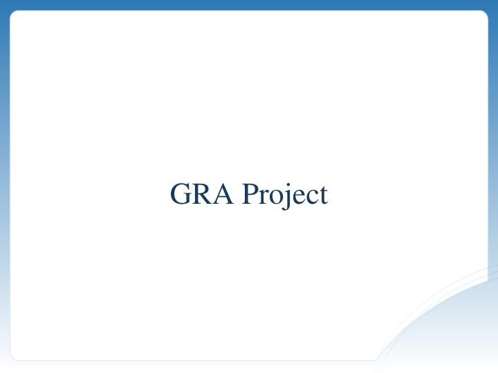 GRA Project