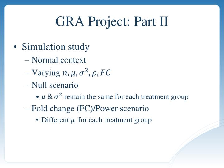 GRA Project: Part