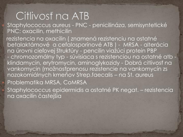 Citlivosť na ATB